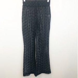 Miken Black Lace Cover-up Pants M